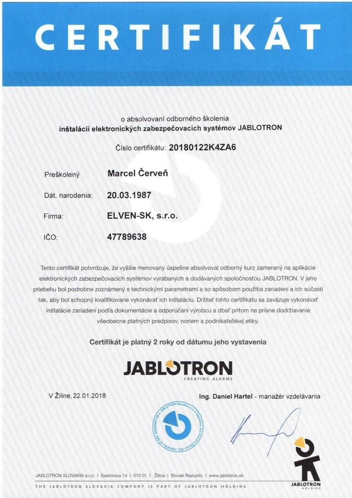 Zabezpečovacie systémy Jablotron